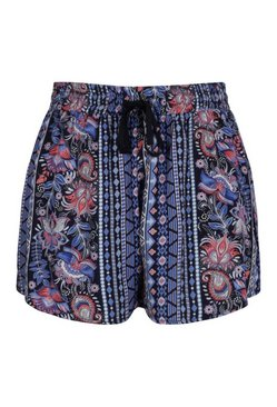 Blue Plus Woven Printed Short