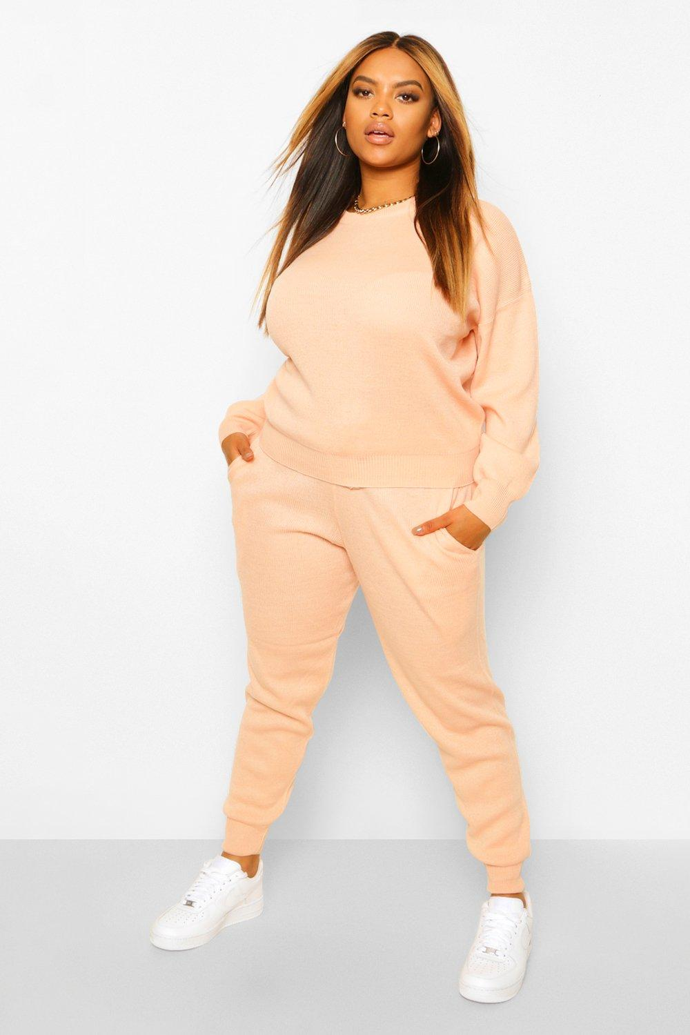 Plus Knitted Jumper And Jogger Co-Ord 4