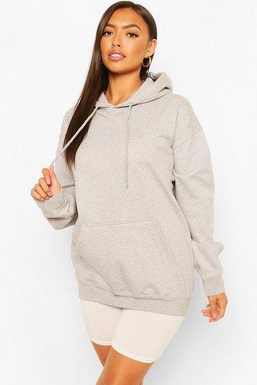 Grey Petite Basic Hoodie