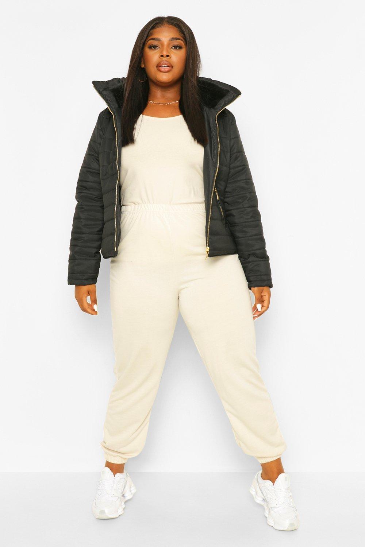 COATS & JACKETS Plus Short Puffer Coat
