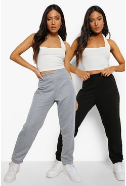 Black Petite Two Pack Boyfriend Joggers