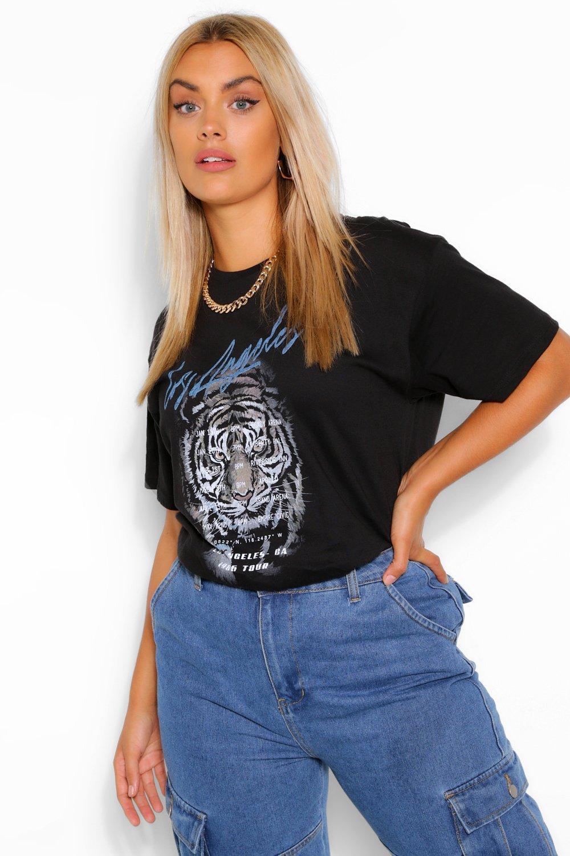 Plus Los Angeles Tiger Band T-Shirt 6