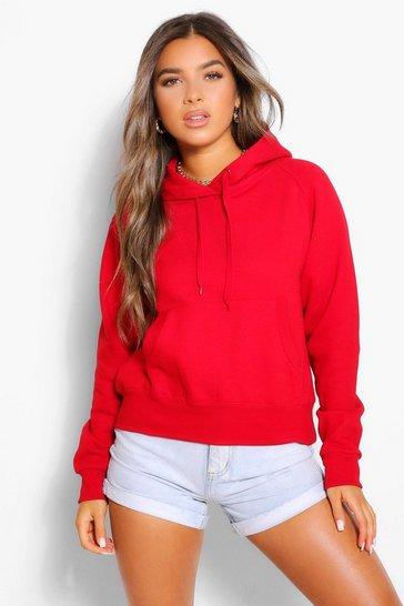 Red Petite Basic Hoodie