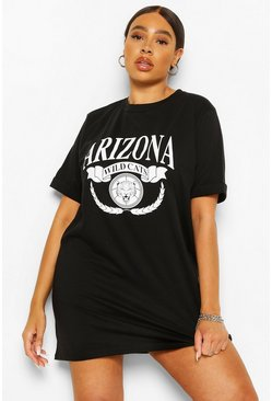 Black Plus 'Arizona' Print Tshirt Dress