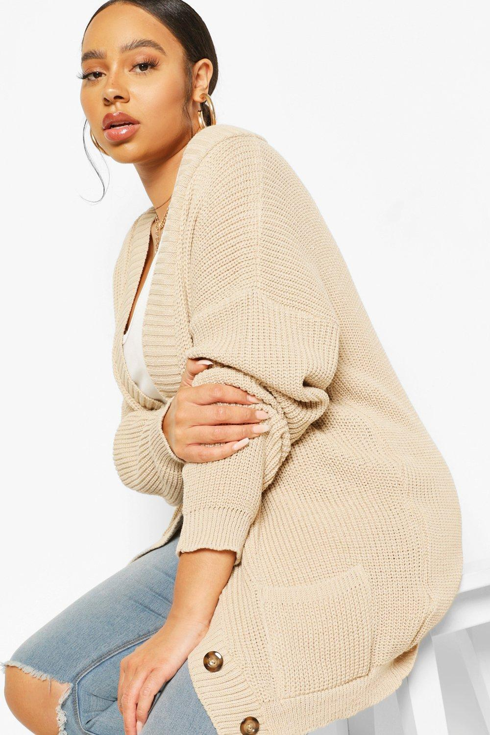 Plus Oversized Button Through Cardigan 8