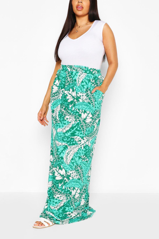 Plus Tropical Beach Maxi Skirt 6