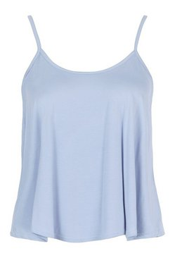 Powder blue Plus Swing Cami Vest