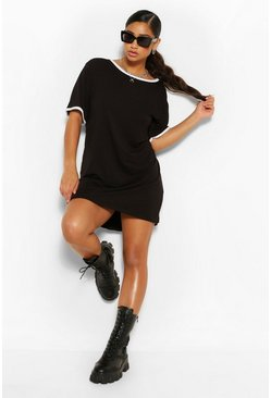 Black Plus Ringer T-Shirt Dress