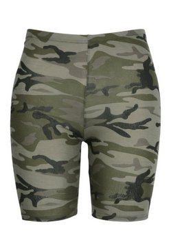 Khaki Plus Camo Cycle Short