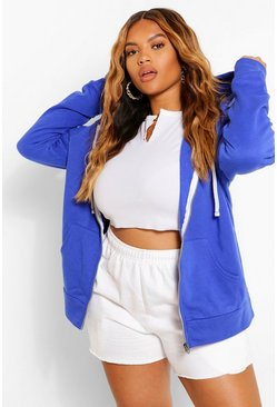 Electric blue blue Plus Oversized Hoody
