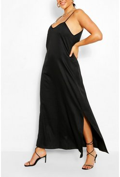 Black Plus Strappy Cami Maxi Dress