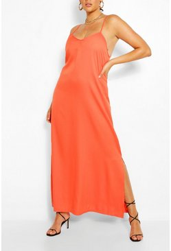 Orange Plus Strappy Cami Maxi Dress