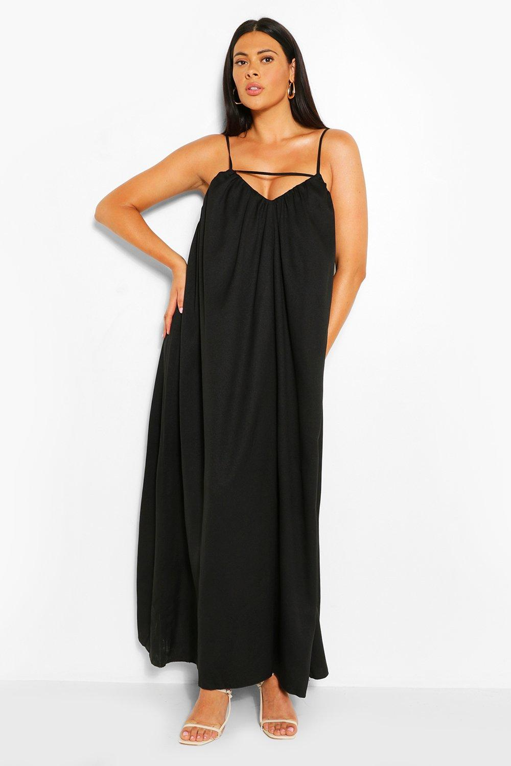 Plus Strappy Cut Out Maxi Dress 6
