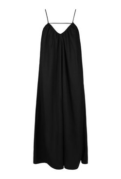 Black Plus Strappy Cut Out Maxi Dress