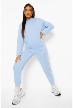 Light blue blue Petite Hoody And Jogger Set