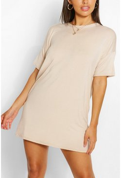 Stone beige Petite Plain T-Shirt Dress