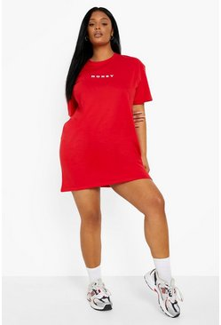 Red Plus Honey Oversized T-Shirt Dress