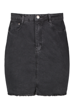 Charcoal Plus Denim Mini Skirt