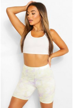 Lilac purple Petite Tie Dye Cycling Shorts