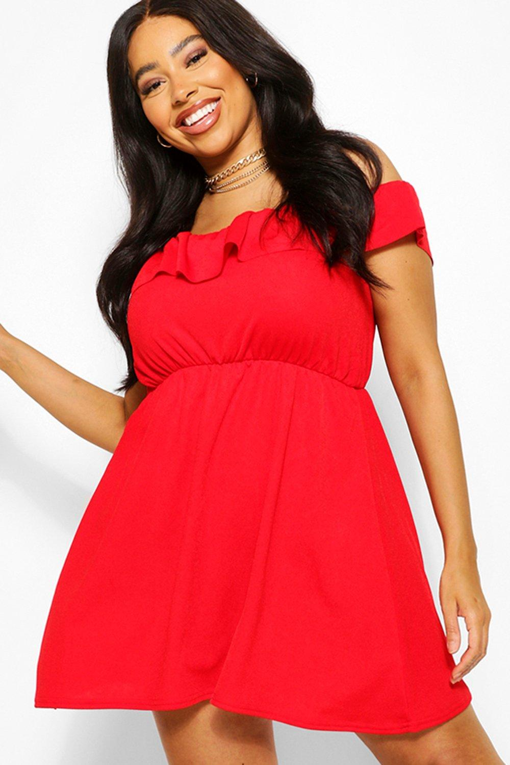 Plus Off The Shoulder Ruffle Sundress 8