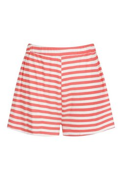 Red Plus Stripe Flippy Short