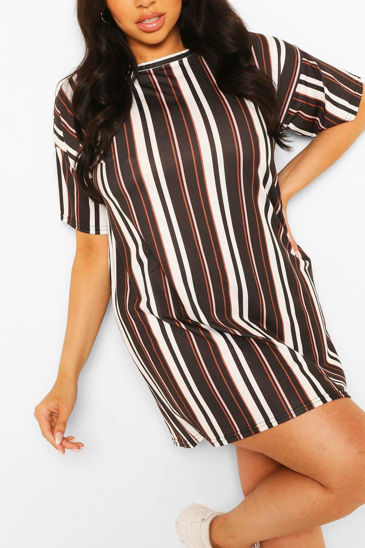 Plus Stripe Oversized T-Shirt Dress 4