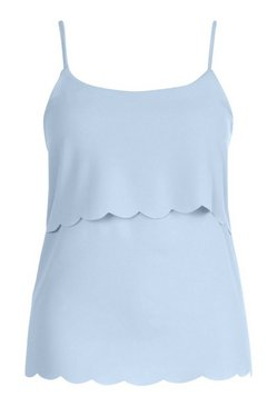 Sky Plus Scallop Tiered Cami