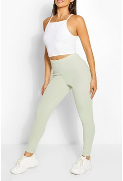 Sage green Petite Rib Leggings