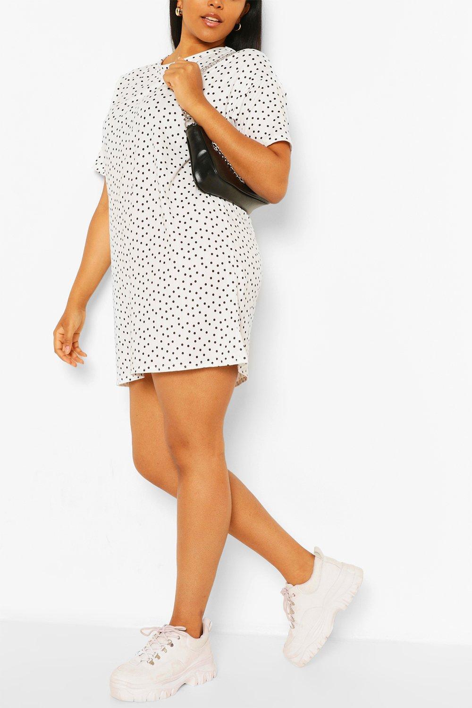 Plus Polka Dot TShirt Dress 19