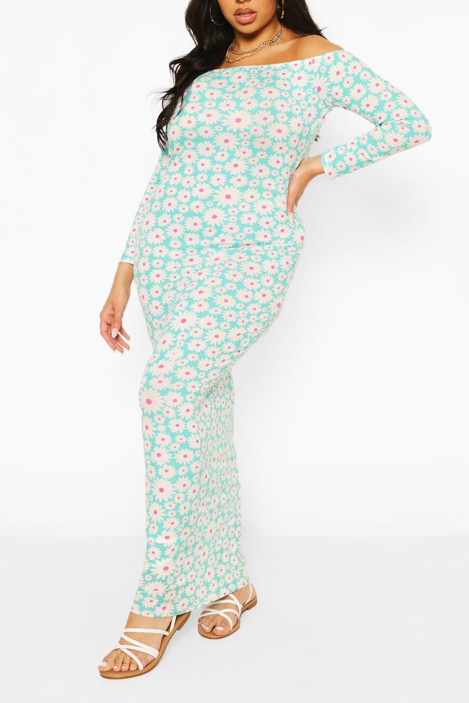 Plus Floral Off The Shoulder Maxi Dress 6