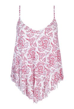Pink Plus Paisley Tassel Beach Dress