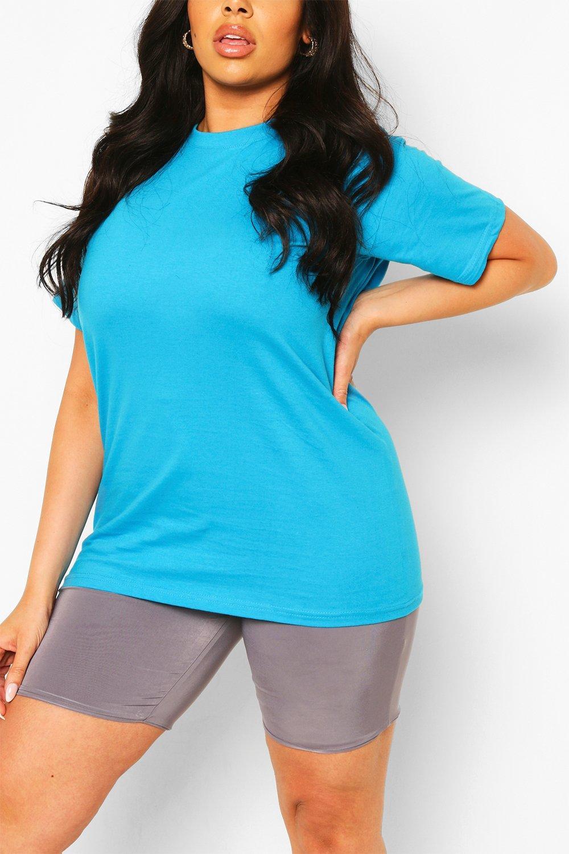 SALE Plus Basic Crew Neck T-shirt