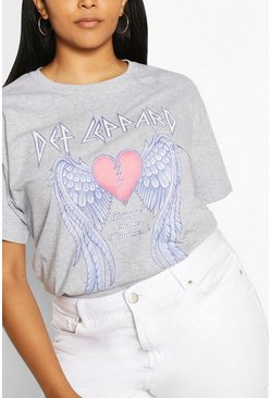 Light grey Plus Def Lappard Heart License T-Shirt
