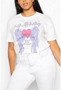 White Plus Def Lappard Heart License T-Shirt