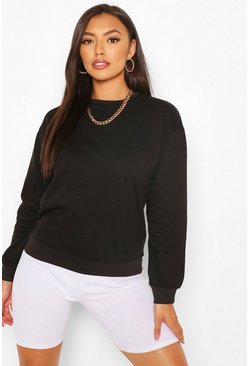 Black Petite Basic Sweat