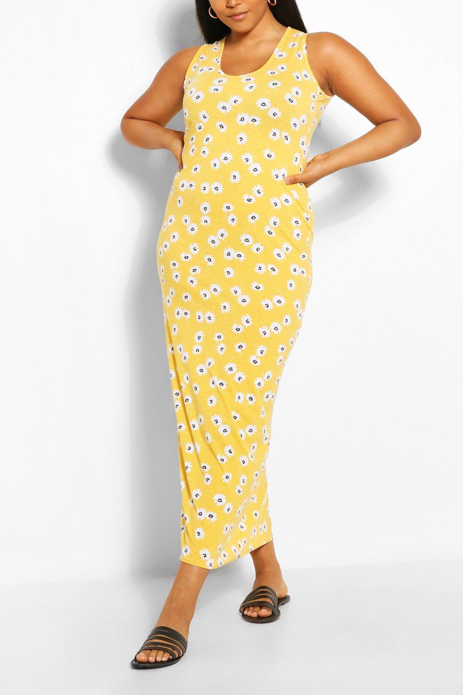 Plus Floral Scoop Neck Maxi Dress 2