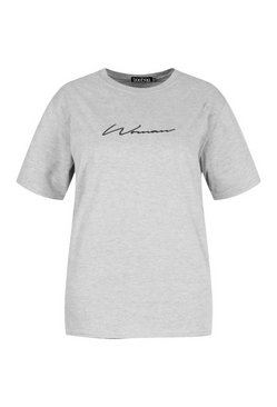 Grey Plus Woman Script T-Shirt & Cycle Short Co-Ord