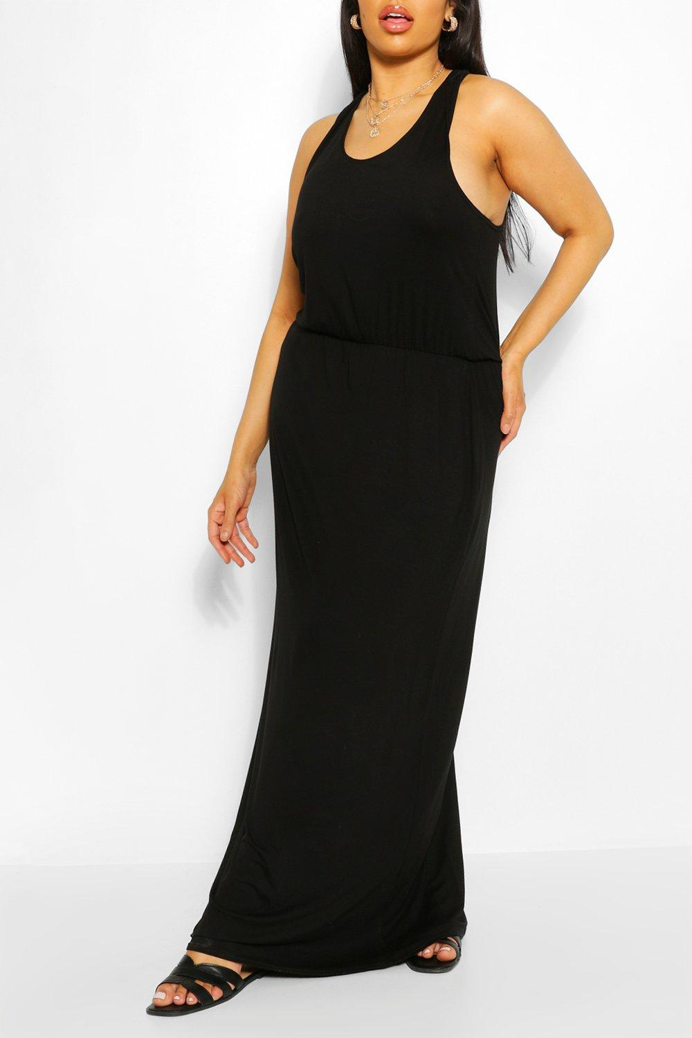 Plus Racer Back Maxi Dress 6