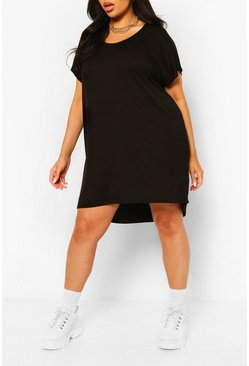 Black Plus Oversized T-Shirt Dress