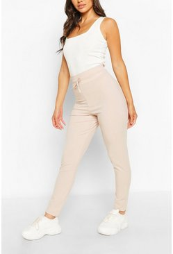 Stone beige Petite High Waist Drawcord Leggings