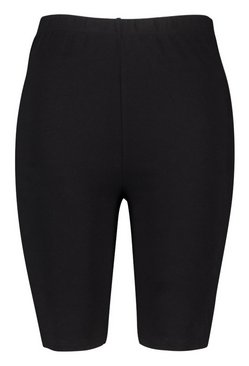 Black Plus Basic Cycling Shorts