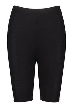 Black Petite Basic Seamless Cycle Shorts