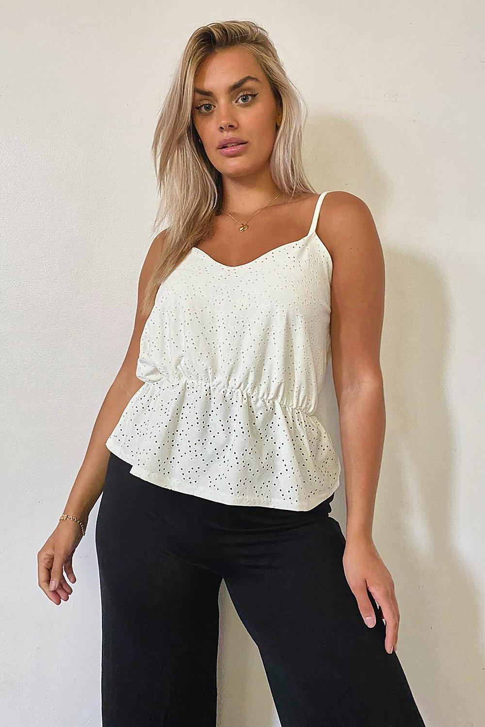 Plus Broderie Anglaise Smock Cami 6