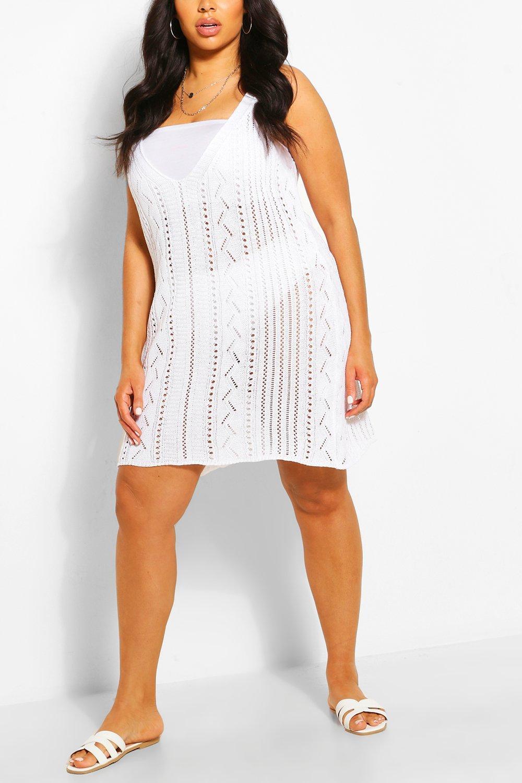 Plus Crochet Mini Beach Dress 7