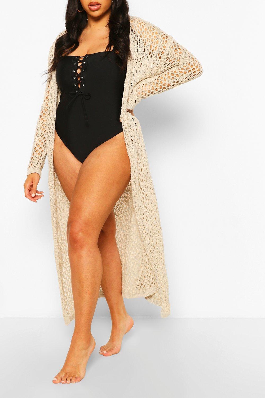 Plus Crochet Maxi Beach Kimono 6