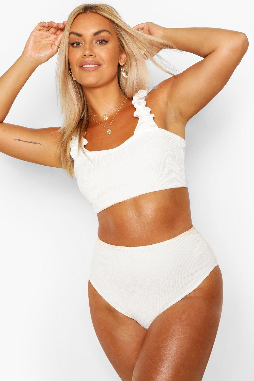 Plus Crinkle Frill Strap Bikini 6