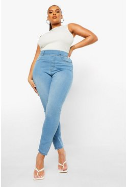 Light blue blue Plus Basic Jegging