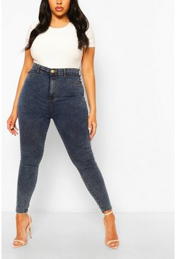 Blue Plus Acid Wash Jegging