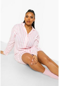 Pink Plus Candy Stripe Jersey Nightie
