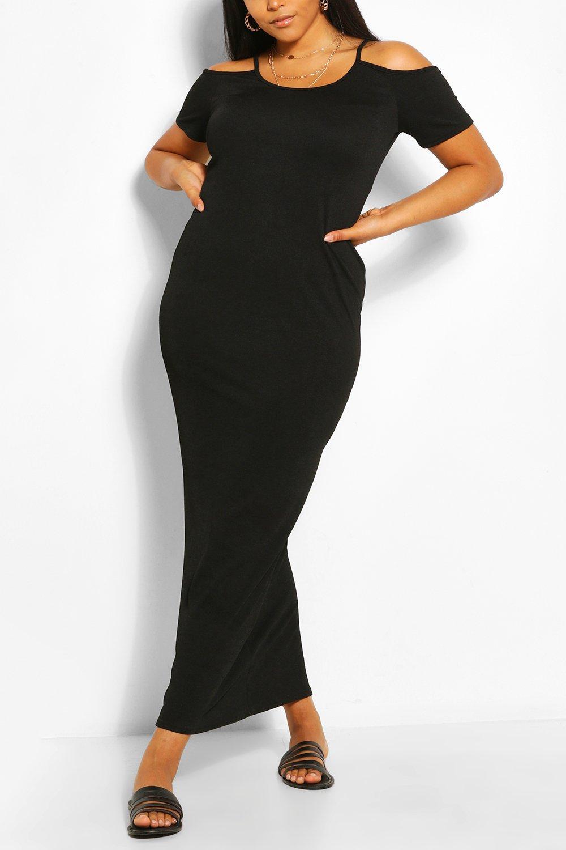 Plus Cold Shoulder Jersey Maxi Dress 6